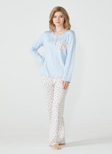 Sementa Pijama Takım Mavi